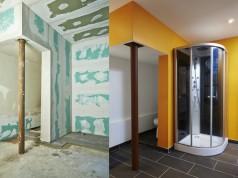 Création d'une salle de douche