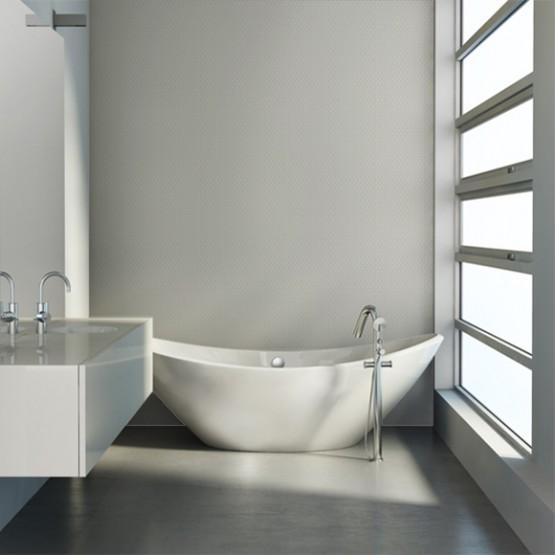 Quelle peinture choisir pour les murs de votre salle de bain - Peinture effet beton pour meuble ...