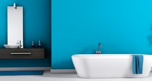 peinture bleue salle de bain