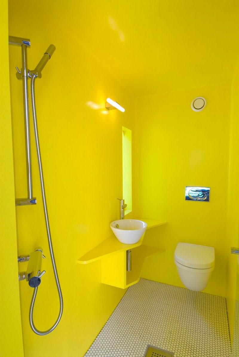 salle de bains jaunes 32 id es pour une d coration lumineuse. Black Bedroom Furniture Sets. Home Design Ideas