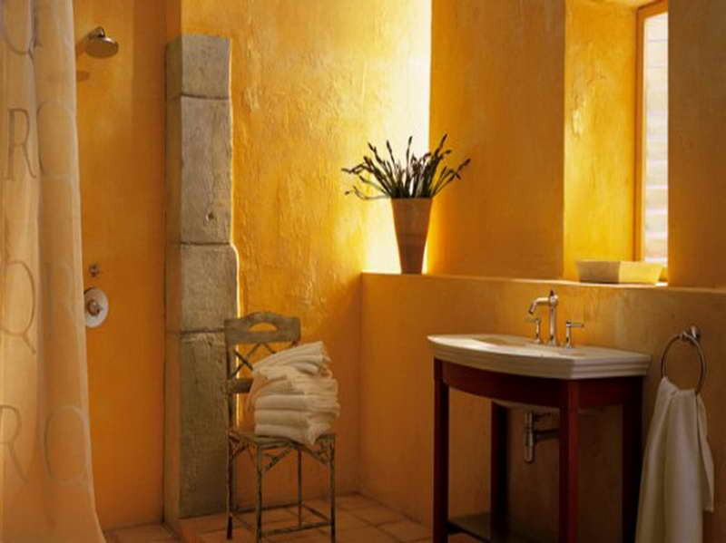 Carrelage salle de bain ocre for Carrelage jaune salle de bain
