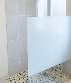 paroi vitrée douche italienne