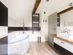 salle de bain plancher chauffant seche serviette